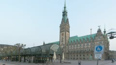 Hamburg Town Hall Stock Footage