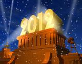 New Year 2012 celebration Stock Illustration