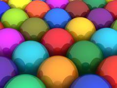 Colorful glossy balls - stock illustration