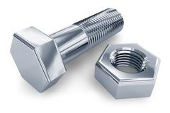 Bolt and nut Stock Illustration