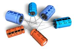 Electrolytic capacitors - stock illustration