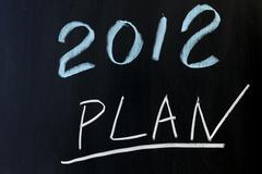 Stock Photo of 2012 plans