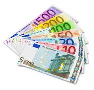 Set of euro banknotes Stock Illustration