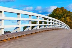 Puinen silta Helsinki, Suomi Kuvituskuvat
