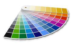 Stock Illustration of Pantone color palette guide