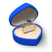 Blue heart-shape box Stock Illustration