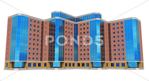 Stock Illustration of Modern tall business building
