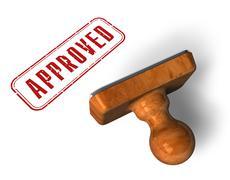 """Approved"" stamp - stock illustration"