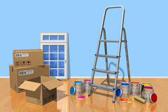 Home renovation concept Stock Illustration
