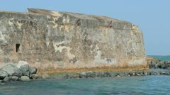 San Geronimo spanish conquest era fort - Condado - Puerto Rico  Stock Footage