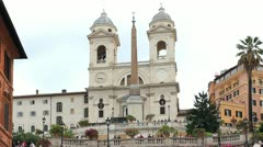 Rome, Italy, Spanish Steps Stock Footage