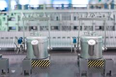 Clean energy production line Stock Photos