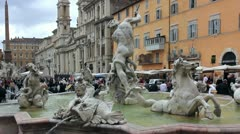 Italy, Rome, Piazza Navona Stock Footage