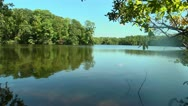 Stock Video Footage of reflective lake