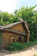 Old wooden house in the summer Stock Photos