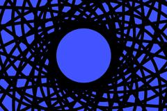 circular abstraction with blue - stock photo