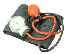 retro kit for measuring blood pressure - stock photo