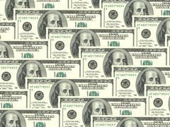 Background of money pile 100 usa dollars Stock Photos