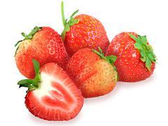 fresh red strawberry - stock photo