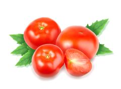 heap of fresh red tomatos - stock photo
