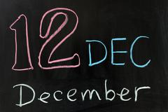 Stock Photo of december
