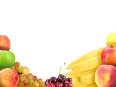 background with fruits - stock photo