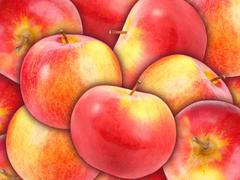 Stock Photo of background of heap fresh red apple