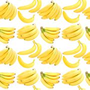 Seamless background with yellow bananas Stock Photos