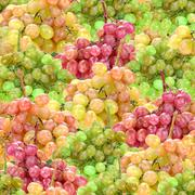 Seamless pattern of fresh ripe motley grape Stock Photos