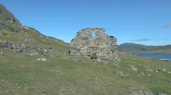 Greenland Hvalsey Nordic ruin 15a Stock Footage