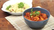 Curry of butternut with couscous Stock Photos