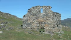 Greenland Hvalsey Nordic ruin  Stock Footage