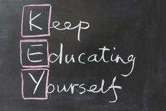 keep educating yourself - stock photo