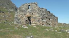 Greenland Hvalsey Nordic ruin 16 Stock Footage