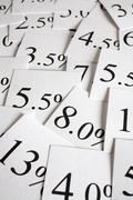 Interest rate background Stock Photos