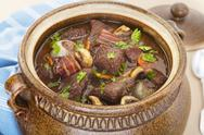 Stock Photo of beef burgundy boeuf bourguignon stew casserole