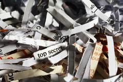Top secret information shredded Stock Photos