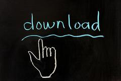 Stock Photo of download and hand pointer