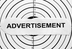 Advertisement target Stock Photos