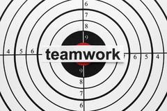 teamwork target - stock photo