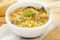 Vegetable soup scotch broth Stock Photos