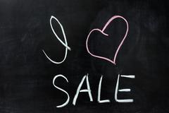 Stock Photo of i love sale