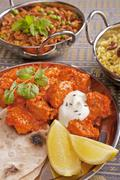 indian meal vertical - stock photo