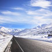 new zealand winter snow - stock photo