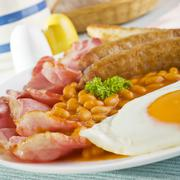 english cooked breakfast - stock photo