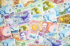 new zealand currency background - stock photo