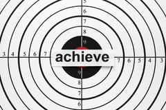 achieve target - stock photo