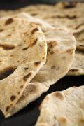 chapatis or indian roti - stock photo