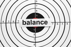 balance target - stock photo