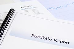 portfolio report - stock photo
